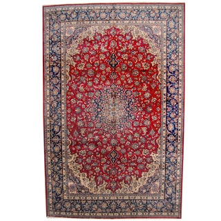 Herat Oriental Persian Hand-knotted 1960s Semi-antique Isfahan Wool Rug (10'5 x 16'2)