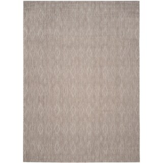 Safavieh Indoor/ Outdoor Courtyard Beige/ Beige Rug - 4' x 5' 7
