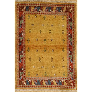 Persian Nomadic Woven Area Rug (3' 9 x 5' 3)