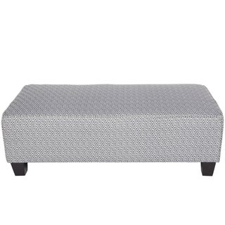 Porter Draper Navy Blue and White Greek Key Rectangle Cocktail Ottoman