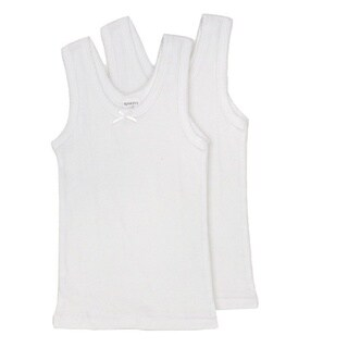 Rossette Girls' Cotton Cami Undershirts (2 Pack)