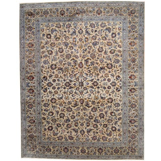 Herat Oriental Persian Hand-knotted 1960s Semi-antique Kashan Wool Rug (10'7 x 13'6)