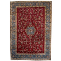Herat Oriental Persian Hand-knotted 1940s Semi-antique Isfahan Wool Rug - 10'4 x 15'