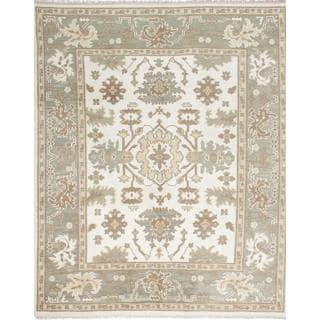 ecarpetgallery Hand-knotted Ushak Beige Wool Rug (7'10 x 9'10)