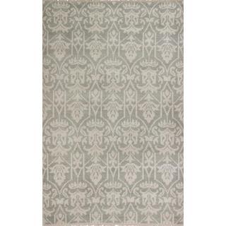 ecarpetgallery Hand-knotted Ushak Beige, Grey Wool Rug (5'0 x 7'9)