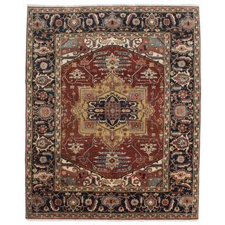 ecarpetgallery Hand-knotted Serapi Heritage Brown Wool Rug (7'11 x 9'8)