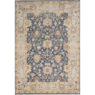 ecarpetgallery Hand-knotted Royal Ushak Grey Wool Rug (5'11 x 8'8)