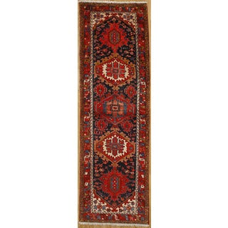 Persian Runner with Geometric Design (3' 4 x 10' 4)