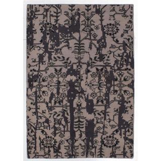 ecarpetgallery Hand-knotted Eternity Beige Wool Rug (5'2 x 7'7)