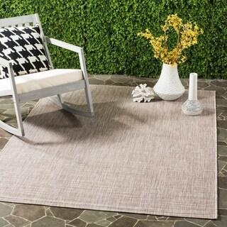 Safavieh Indoor/ Outdoor Courtyard Grey/ Turquoise Rug (2' 3 x 8')
