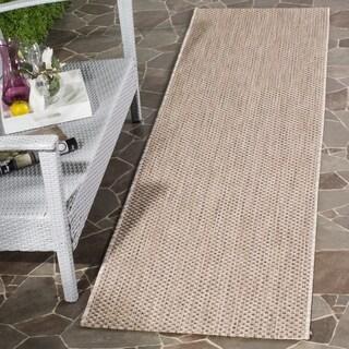 Safavieh Indoor/ Outdoor Courtyard Beige/ Brown Rug (2' 3 x 12')