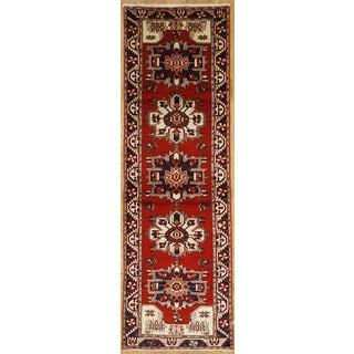 Persian Runner with Geometric Design (3' 2 x 10' 5)