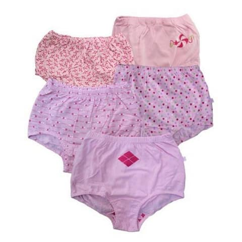 Candyland Girls' 100-percent Combed Cotton Panties (Pack of 2)