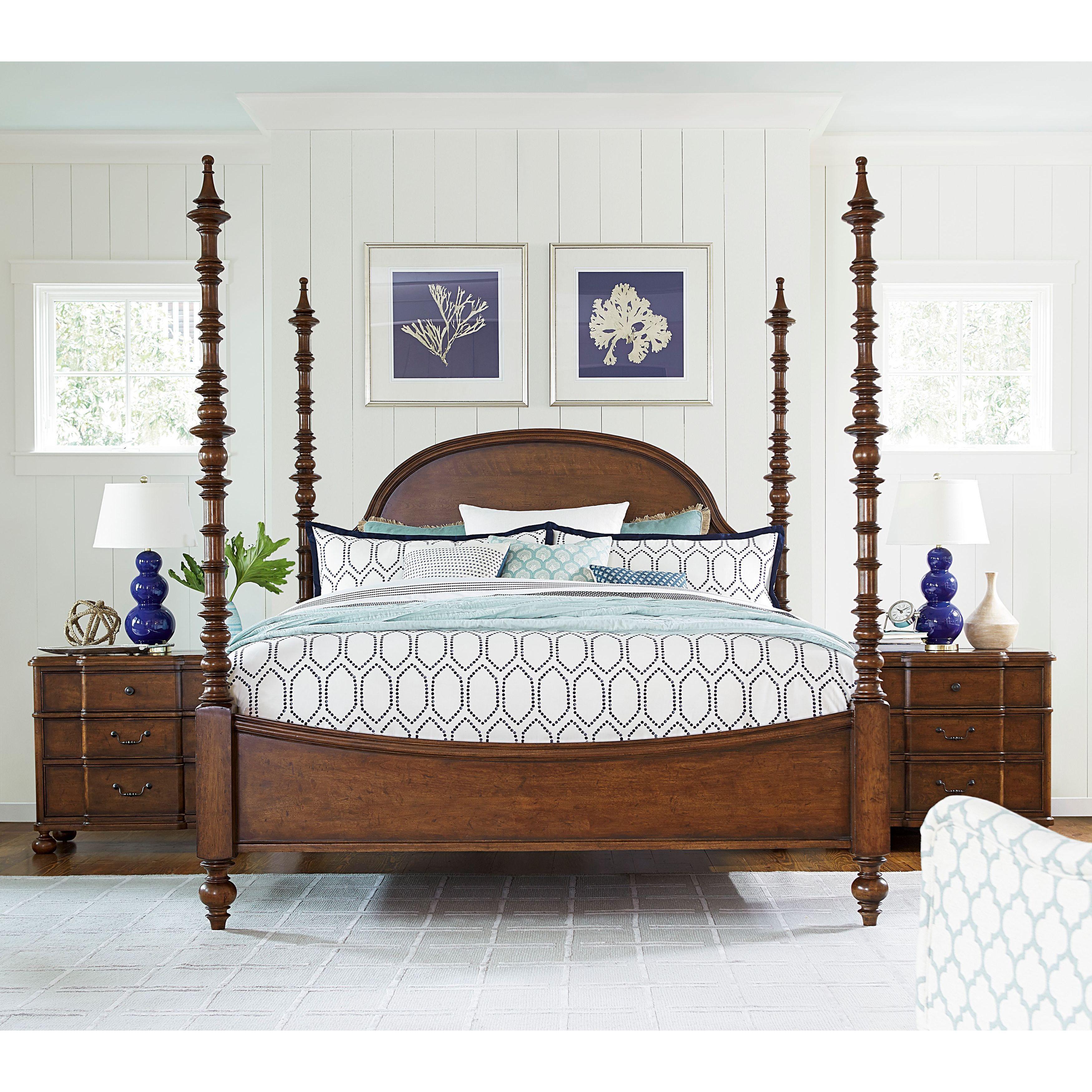 PAULA Deen Dogwood Bed Complete in Low Tide Finish (King)...