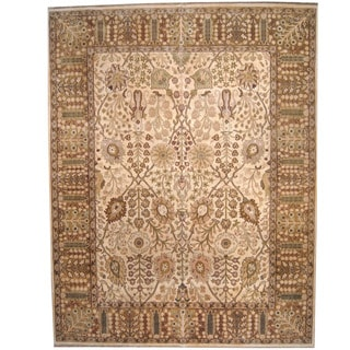 Herat Oriental Indo Persian Hand-knotted Mahal Wool Rug (12' x 15'3)