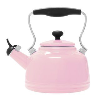 Chantal Enamel on Steel Vintage Teakettle 2 Qt in Pink