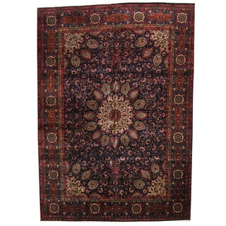 Herat Oriental Persian Hand-knotted 1960s Semi-antique Tabriz Wool Rug (11' x 15'9)