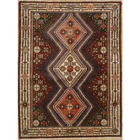 Persian Rug with Geometric Design - 5'1 x 6'9