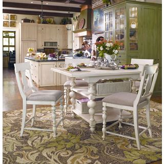 Paula Deen Home Kitchen Gathering Table in Linen Finish - White
