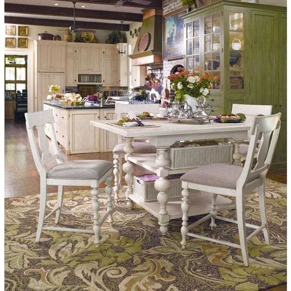 Paula Deen Home Kitchen Gathering Table In Linen Finish   White