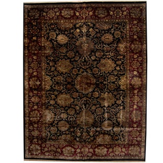 Herat Oriental Indo Persian Hand-knotted Khorasan Wool Rug (12' x 15'4)