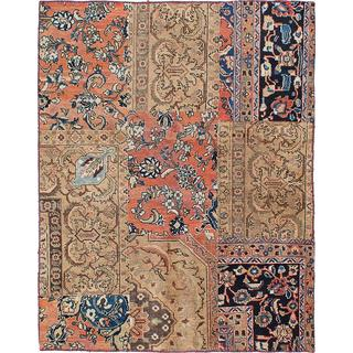 ecarpetgallery Hand-knotted Sunwash Patch Beige, Brown Wool Rug (5'0 x 6'5)