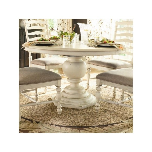Paula Deen Home Round Pedestal Table In Linen Finish   Free Shipping Today    Overstock.com   18558810