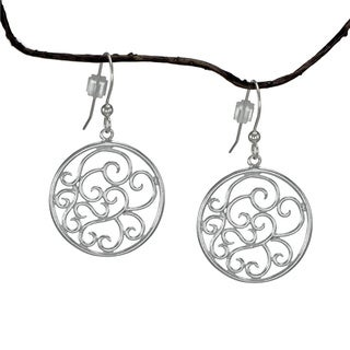 Jewelry by Dawn Round Filigree Scroll Sterling Silver Earrings