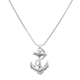 Jewelry by Dawn Large Anchor Sterling Silver Snake Chain Necklace
