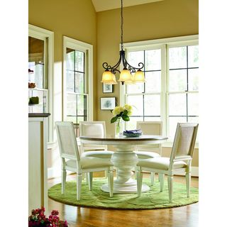 Summer Hill Complete Round Dining Table in Cotton Finish