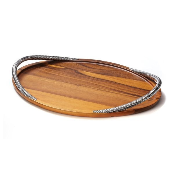 Shop Nambe Braid Serving Tray Free Shipping Today