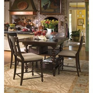 Paula Deen Home Kitchen Gathering Table Complete in Tobacco Finish