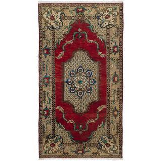 ecarpetgallery Hand-knotted Konya Anatolian Red Wool Rug (5'1 x 9'7)