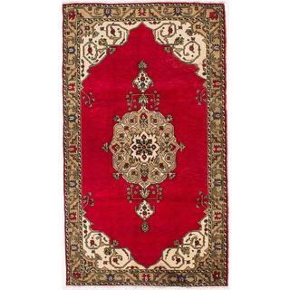 ecarpetgallery Hand-knotted Konya Anatolian Red Wool Rug (5'3 x 9'0)