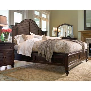 Paula Deen Home Steel Magnolia Complete Bed in Tobacco Finish