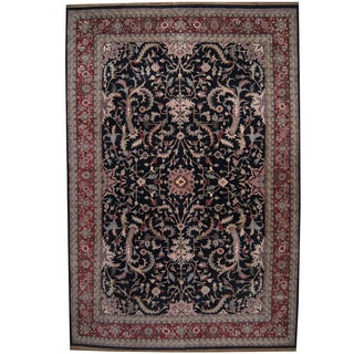Herat Oriental Indo Persian Hand-knotted Kashan Wool Rug (12'1 x 17'10)