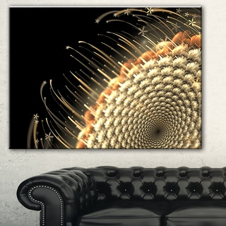 Brown Fractal Flower Pattern' Floral Digital Art Canvas Print