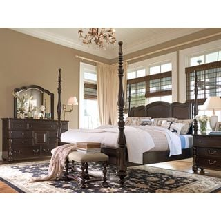 Paula Deen Home Savannah Complete Poster Bed in Tobacco Finish