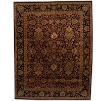 Herat Oriental Indo Persian Hand-knotted Mahal Wool Rug (12' x 15'2)