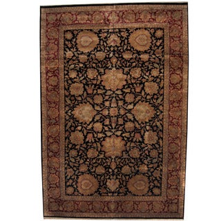 Herat Oriental Indo Persian Hand-knotted Khorasan Wool Rug (12' x 17'10)