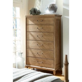 Moderne Muse Drawer Chest in Bisque Finish