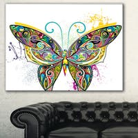 Openwork Butterfly' Digital Art Canvas Print - Multi-color