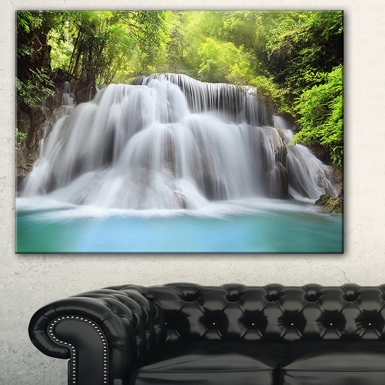 Huai Mae Kamin Waterfall Large Photography Canvas Art Print Wall Art Posters Prints
