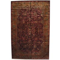 Herat Oriental Indo Persian Hand-knotted Khorasan Wool Rug (12'2 x 18'6) - 12'2 x 18'6