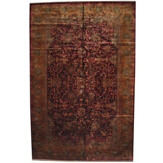 Herat Oriental Indo Persian Hand-knotted Khorasan Wool Rug (12'2 x 18'6)