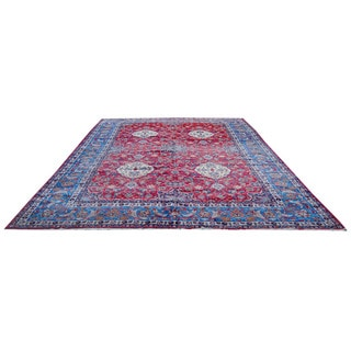 Herat Oriental Persian Hand-knotted 1940s Semi-antique Isfahan Wool Rug (12'6 x 19'3)