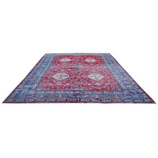 Herat Oriental Persian Hand-knotted 1940s Semi-antique Isfahan Wool Rug (12'6 x 19'3) - 12'6 x 19'3