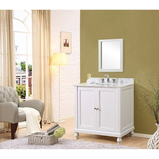 Classic Spa 32 Inch Single Vanity In White