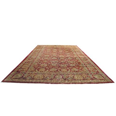 Handmade One-of-a-Kind Khorasan Wool Rug (India) - 13'8 x 23'7