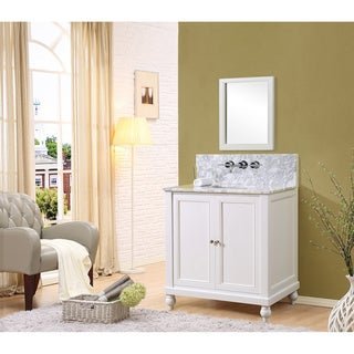 """Classic Premium 32"""" Pearl White Vanity (4 options available)"""